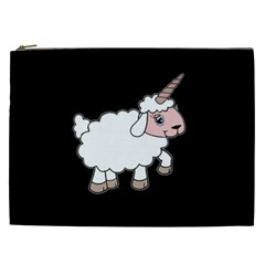 Unicorn Sheep Cosmetic Bag (xxl)  by Valentinaart