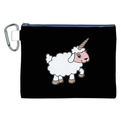 Unicorn Sheep Canvas Cosmetic Bag (xxl) by Valentinaart