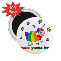 Unicorn Sheep 2 25  Magnets (100 Pack)  by Valentinaart