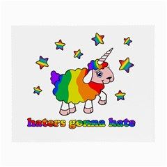 Unicorn Sheep Small Glasses Cloth (2 Side) by Valentinaart