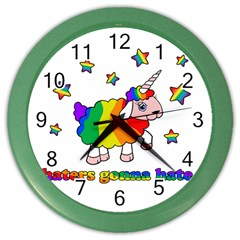 Unicorn Sheep Color Wall Clocks by Valentinaart