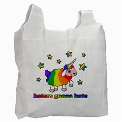 Unicorn Sheep Recycle Bag (one Side) by Valentinaart