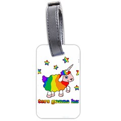 Unicorn Sheep Luggage Tags (two Sides) by Valentinaart