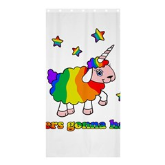 Unicorn Sheep Shower Curtain 36  X 72  (stall)  by Valentinaart