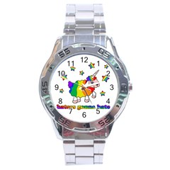 Unicorn Sheep Stainless Steel Analogue Watch by Valentinaart