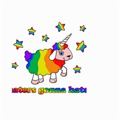 Unicorn Sheep Small Garden Flag (two Sides) by Valentinaart