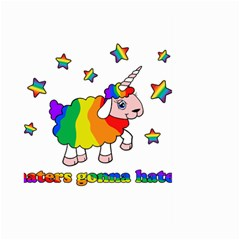 Unicorn Sheep Large Garden Flag (two Sides) by Valentinaart