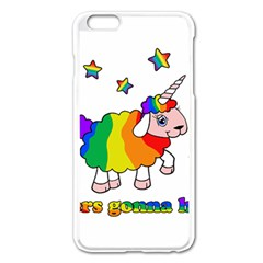 Unicorn Sheep Apple Iphone 6 Plus/6s Plus Enamel White Case by Valentinaart