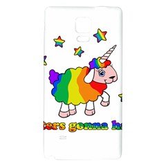 Unicorn Sheep Galaxy Note 4 Back Case by Valentinaart