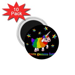Unicorn Sheep 1 75  Magnets (10 Pack)  by Valentinaart