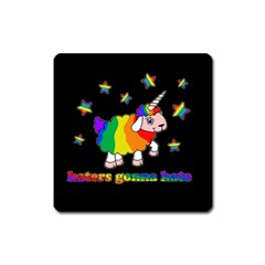 Unicorn Sheep Square Magnet by Valentinaart