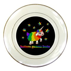 Unicorn Sheep Porcelain Plates by Valentinaart