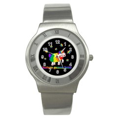 Unicorn Sheep Stainless Steel Watch by Valentinaart