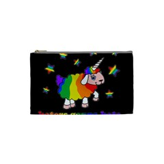 Unicorn Sheep Cosmetic Bag (small)  by Valentinaart