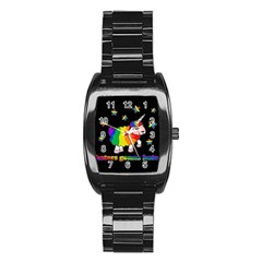 Unicorn Sheep Stainless Steel Barrel Watch by Valentinaart