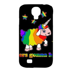 Unicorn Sheep Samsung Galaxy S4 Classic Hardshell Case (pc+silicone) by Valentinaart