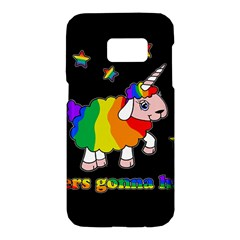 Unicorn Sheep Samsung Galaxy S7 Hardshell Case  by Valentinaart