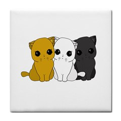 Cute Cats Tile Coasters by Valentinaart