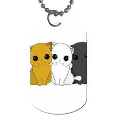 Cute Cats Dog Tag (two Sides) by Valentinaart