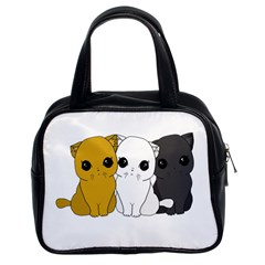 Cute Cats Classic Handbags (2 Sides) by Valentinaart