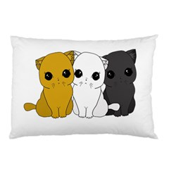 Cute Cats Pillow Case by Valentinaart