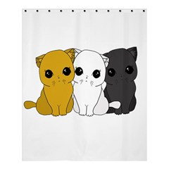 Cute Cats Shower Curtain 60  X 72  (medium)  by Valentinaart