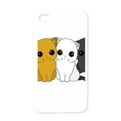Cute Cats Apple Iphone 4 Case (white) by Valentinaart