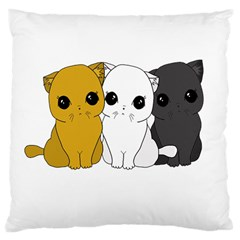 Cute Cats Large Cushion Case (two Sides) by Valentinaart