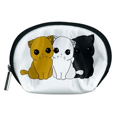 Cute Cats Accessory Pouches (medium)  by Valentinaart