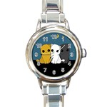 Cute cats Round Italian Charm Watch