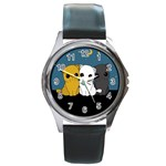 Cute cats Round Metal Watch