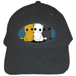 Cute cats Black Cap