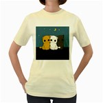 Cute cats Women s Yellow T-Shirt