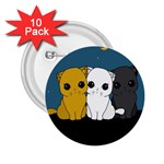 Cute cats 2.25  Buttons (10 pack)