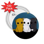 Cute cats 2.25  Buttons (100 pack)