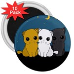 Cute cats 3  Magnets (10 pack)