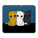 Cute cats Large Mousepads