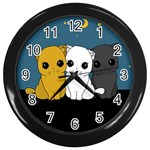 Cute cats Wall Clocks (Black)