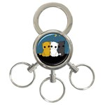 Cute cats 3-Ring Key Chains