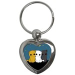 Cute cats Key Chains (Heart)
