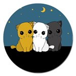 Cute cats Magnet 5  (Round)