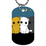 Cute cats Dog Tag (One Side)