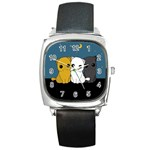 Cute cats Square Metal Watch