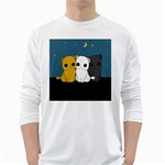 Cute cats White Long Sleeve T-Shirts