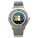 Cute cats Stainless Steel Watch