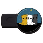 Cute cats USB Flash Drive Round (4 GB)