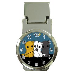 Cute Cats Money Clip Watches by Valentinaart