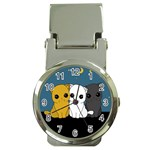 Cute cats Money Clip Watches