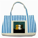 Cute cats Striped Blue Tote Bag