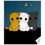 Cute cats Canvas 20  x 24